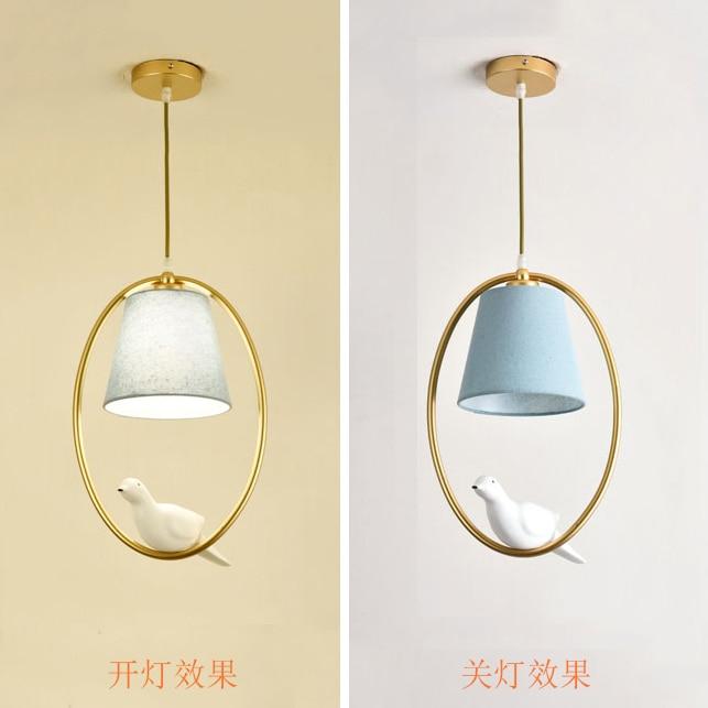 Modern Led Glass Pendant Light Nordic Dining Room Kitchen Light Bird Designer Hanging Lamps Home Decor Avize Lustre Lighting E27