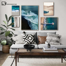 Seascape Beach Sunset 5 panel canvas Wall Art Home Decor Poster Picture