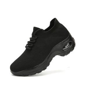 Image 1 - MWY Flying Woven Wedges Casual Shoes Women High Heel Sneakers Women Platform Shoes Zapatilla De Mujer Outdoor Walking Shoes