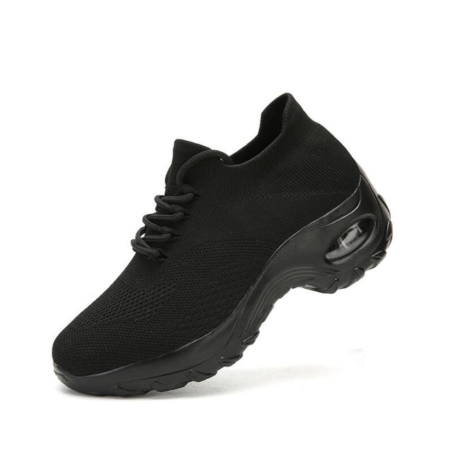MWY Flying Woven Wedges Casual Shoes Women High Heel Sneakers Women Platform Shoes Zapatilla De Mujer Outdoor Walking Shoes