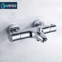 EVERSO Thermostatic Shower Faucets Bathroom Thermostatic Mixer Hot And Cold Bathroom Mixer Mixing Valve Bathtub Faucet