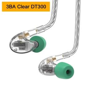 Image 2 - NICEHCK DT600 6BA/DT500 5BA/DT300 Pro 3BA привод Внутриканальные наушники 6/5/3 сбалансированные арматурные съемные MMCX HIFI спортивные наушники
