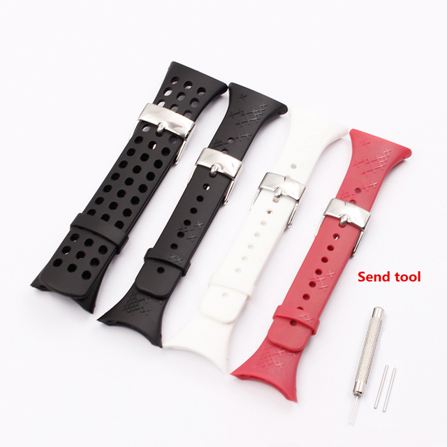 Watches Accessories For Suunto M-Series m1 m2 m3 m4 m5 Men #8217 s and women #8217 s rubber straps cheap NoEnName_Null 1616 buckle Watchbands New with tags 21cm