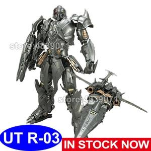 Image 1 - UT oyuncaklar aksiyon figürü oyuncakları UT R 03 R03 alaşım Mega Galva şövalye lider uçak deformasyon dönüşüm