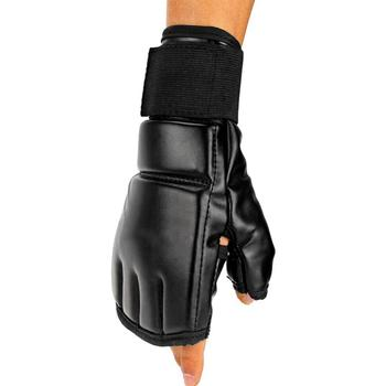 Black Fighting Sports Leather Gloves Tiger Boxing Muay Thai Boxing Gloves Boxing Sanda Boxing Half Finger Gloves 3
