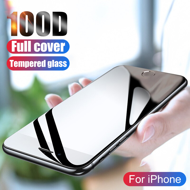 100D Screen Protector For IPhone 11 Pro X XR XS Max Tempered Glass On The For IPhone 7 8 6 6s Plus Protective Glass Film