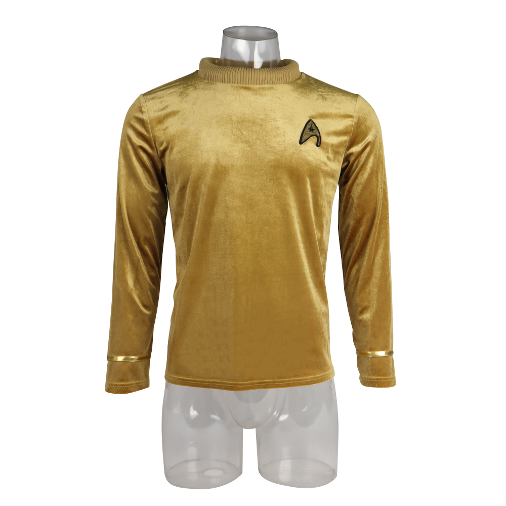 Star TOS Captain Pike Kirk Treks Top Shirt The Original Series Cosplay Uniform Halloween Costumes Man Adult image
