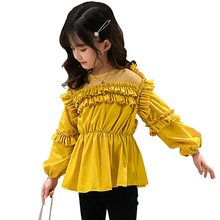 Blouse Shirts Teenage Girls Children's Patchwork for 8 10-12 14-6