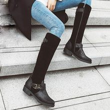 New Winter Sexy Black White Women Thigh High Boots Glamour 3 inch Heels Lady Riding Shoes W188 Plus Big Size#3(China)