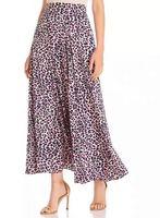 Women Skirt 2019 New Silk Print Leopard Summer Comfortable Waist Skirt