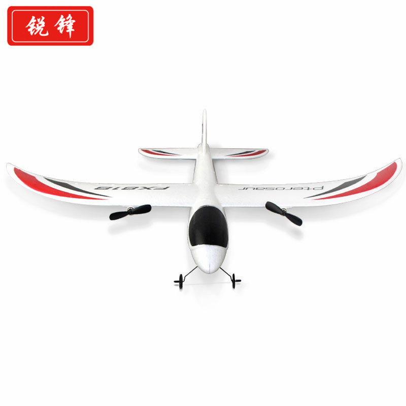 Export 2.4G Remote Control Hand-Tossed Foam Paper Airplane EPP Material Fighter Plane Fx818 Model Airplane Glider Unmanned Aeria