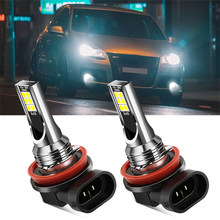 2x H8 H11 ampoule LED voiture antibrouillard feux diurnes pour Opel Astra j Insignia Astra g Corsa Zafira b Mokka Vivaro Meriva