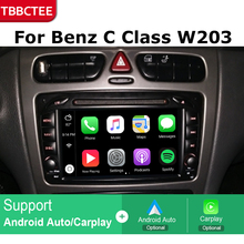 Android Car GPS Navigation For Mercedes Benz C Class W203 2001~2004 Car dvd player BT RDS Mlutimedia player Navi 2Din WiFi цена