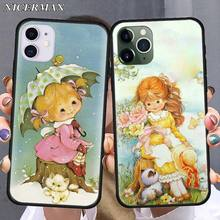 Silicone Case for iPhone 11 Pro Max XR XS MAX SE 2020 7 8 Plus 5s 6s Plus 7+ 8+ Phone Fall Cover Shell Sarah Kay