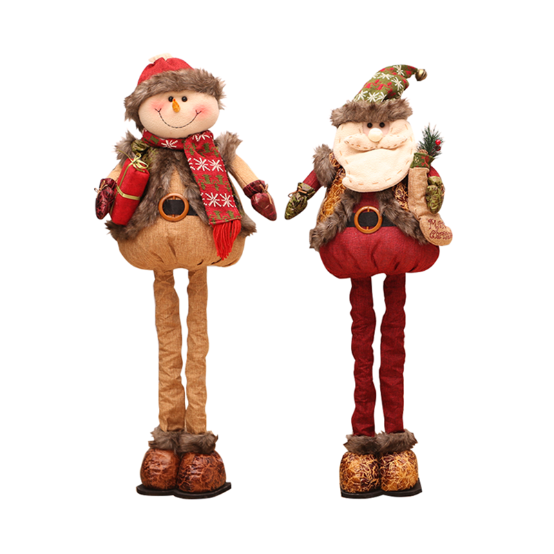 76 Cm Ditarik Santa Claus Snowman Rusa Natal Boneka Dekorasi Natal untuk Rumah Natal Patung Adornos De Navidad