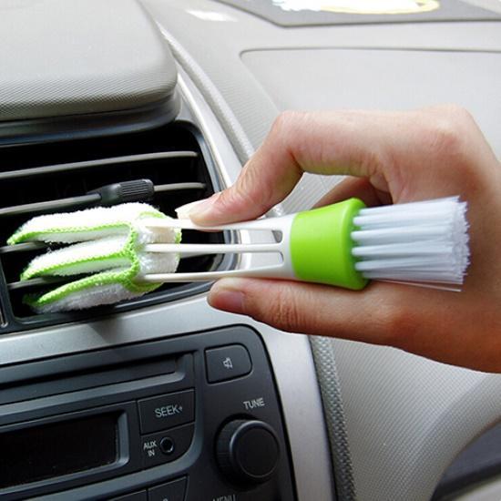 Voiture climatiseur évent brosse Microfibre voiture Grille nettoyant Auto détaillant stores Duster brosse voiture-style Auto accessoires