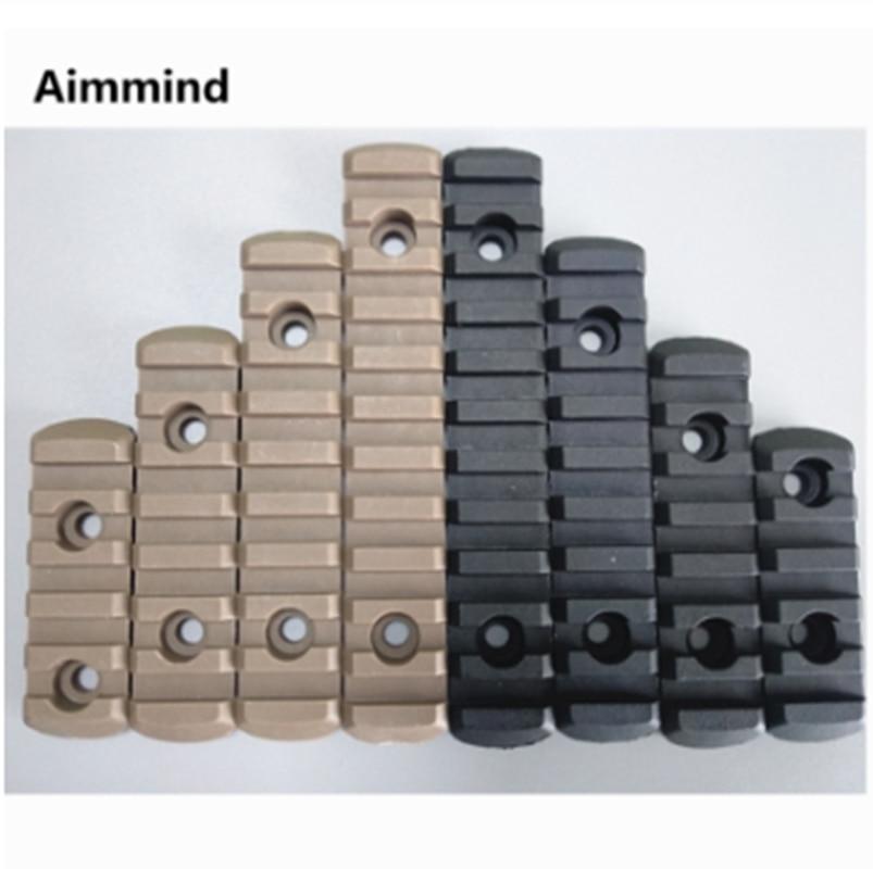 4pcs M-LOK Polymer Rifle Picatinny Weaver Rail Section Set guard Accessories