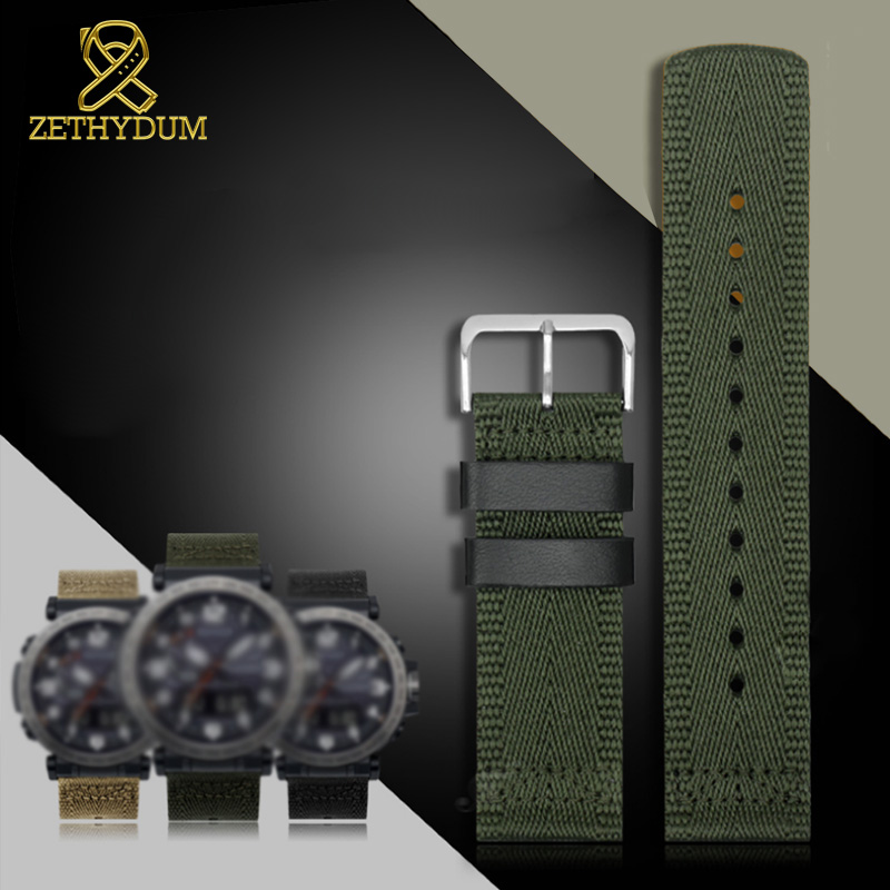 Senior Nylon Watchband 24mm For Casio GA2000 PRG-600YB-3 Prg-650 PRW-6600 Watch Strap Waterproof Bracelet Wristwatches Band