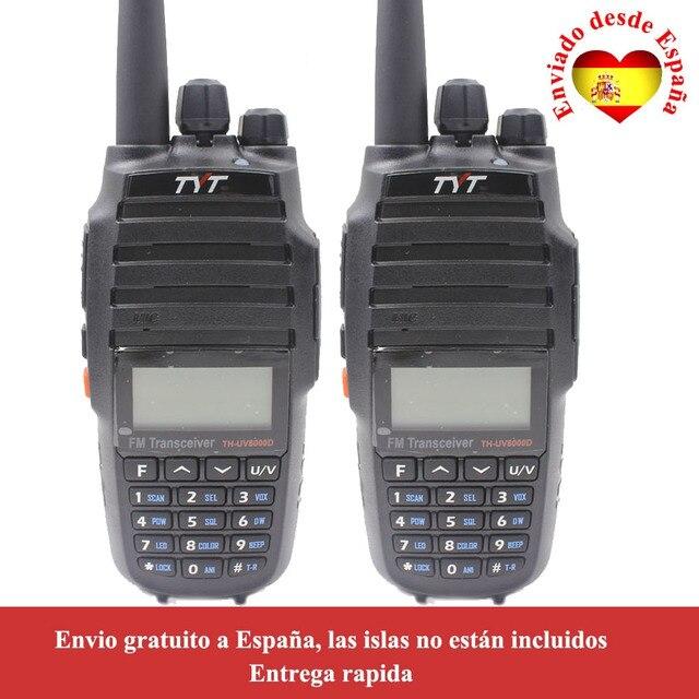 2PCS/Lot TYT TH UV8000D 10W Dual band VHF UHF Radio with 3600mAh Battery Walkie Talkie UV8000D Two Way Radio