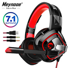Gaming Headset casque Wired PC Stereo 7.1 Earphones Headphone Surround Bass with Microphone for New Xbox One/Laptop Tablet Gamer