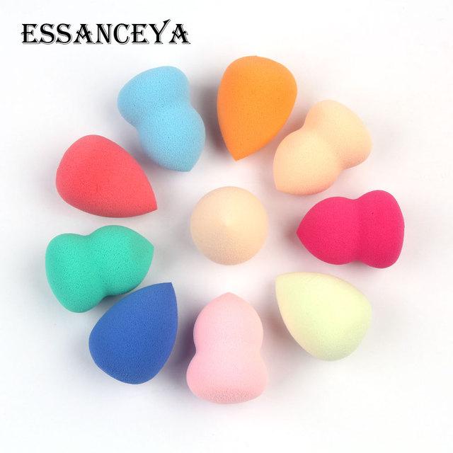 ESSANCEYA, Color aleatorio, 1/4/5/10 uds, paquete, base de maquillaje esponja, conjunto de brochas de maquillaje, polvo, belleza suave, cosmética, herramienta de maquillaje