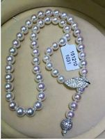 free shipping classic 10 11mm round white pearl necklace 24