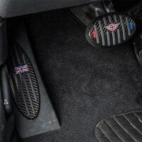 3pcs For MINI Cooper JCW f54 f55 f56 f60 r55 r56 r60 Car sticker Car Gas Pedal Decoration Carbon Fiber Car Accessories Interior