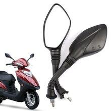 10mm Elektrische Motorrad Rückspiegel, Für SUZUKI Haojue HJ125T 23 10K 10E 10G, Rückansicht Spiegel Rückseite
