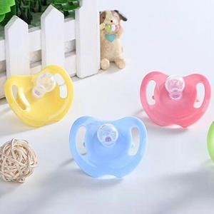 Chupeta de silicone para bebês, chupeta de silicone para recém-nascidos, bebês, meninos e meninas, cabeça redonda