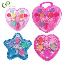 Pretend Play  Kit Toys Girls Makeup Tools Set Simulation Lipstick And Eye Shadow For Kids Girls' Christmas Gift GYH
