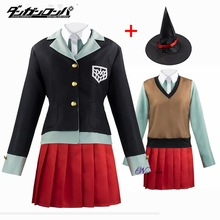Cosplay Costume Suit Uniform Jacket Skirt Magic-Hat Danganronpa V3 Halloween Party Himiko Yumeno