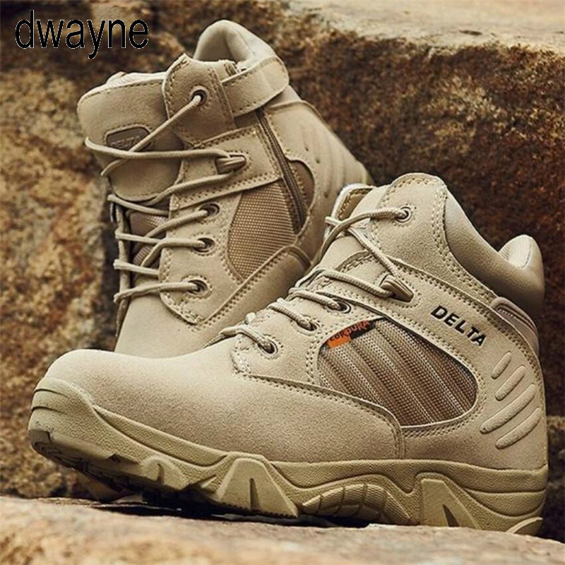 2019 Winter Autumn Men Military Boots Quality Special Force Tactical Desert Combat Ankle Boats Army Work Shoes Dfc56