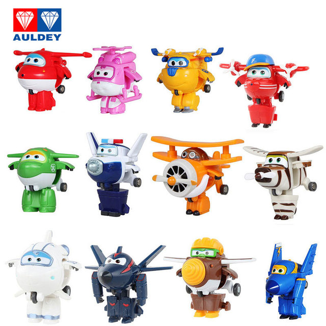 AULDEY 32 new styles ABS Latest Super Wing Action Mini Aircraft Transforming Robot Anime Toy Children's Birthday Gift