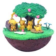 TAKARA TOMY Pokemon Pocket Monsters Pikachu Figure Elf Doll Desktop Decoration Scenes Toys Action Figure Kids Gifts