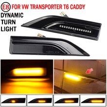 LED Side Marker Turn Signal Light Dynamic Flowing Indicator Blinker For VW Transporter T6 Multivan Caddy 2016 2017
