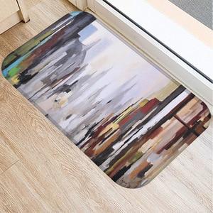 Image 5 - 40*60cm peinture à lhuile Art tapis de sol anti dérapant daim tapis tapis de porte cuisine salon tapis de sol chambre tapis de sol décoratif.