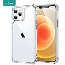 ESR-funda transparente a prueba de golpes para iPhone, funda trasera transparente de lujo a prueba de golpes para iPhone 12 mini 12 Pro Max