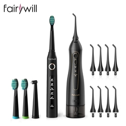 Fairywill Portable Oral Irrigator USB 300ml Rechargeable Dental Water Flosser Irrigator Dental Teeth Cleaner 3 Modes for Adult