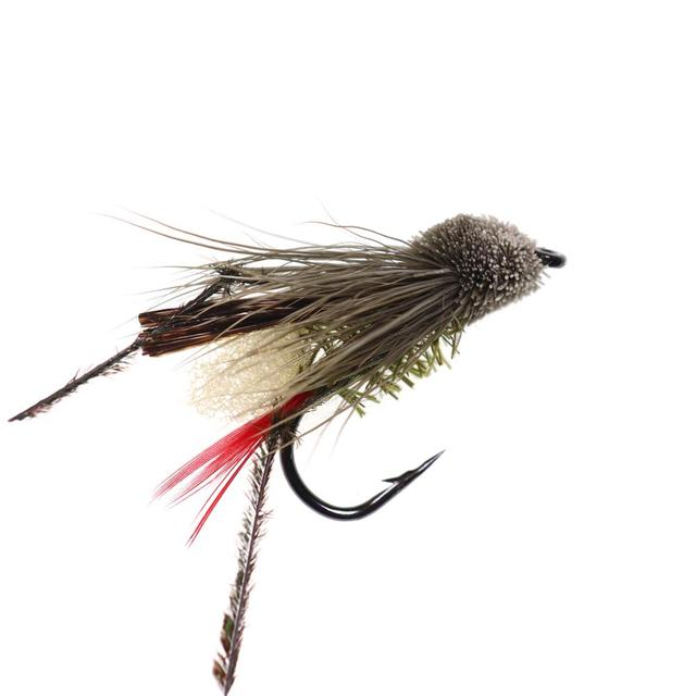 5PCS #10 Trout Fishing Fly Grass Hopper Fly terrestrial Hopper Fly Floating Bass Crappie Bug Bait Artificial Lure 4