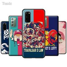 One Piece Luffy Anime Soft Covers for Samsung Galaxy S20 S10 Note 20 Ultra 5G 9 10 Lite S10e S9 S8 Plus Black Silicone Cases(China)