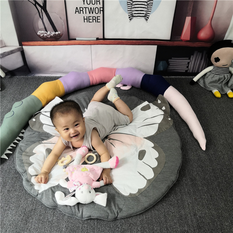 Hdbe6f631892a47edaea37e08f96a8bfem Child Play Mats kids animal Crawling Carpet Floor Rug Baby soft cotton sleeping Game rugs Children Room Decor Photo Props 90CM