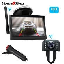YuanTing Built in Wireless License Plate 7 Notturna di IR LED di Visione di Backup Auto Videocamera Vista Posteriore 5 Pollici Display LCD Monitor sistema di Kit