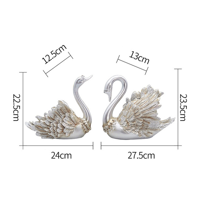 Christmas Halloween Home Decorations Accessories Swan Feng Shui Ornaments Creative Home Decor Figurine for Living Room, Bedroom 4