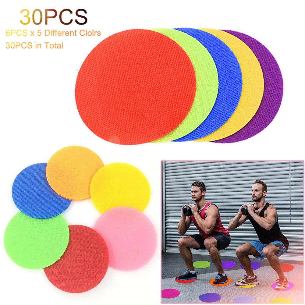 Creative 30PCS Spot On Bright Stars Carpet Markers Reusable Training Floor Sitting Sport Spot Indicators For Kids Adults