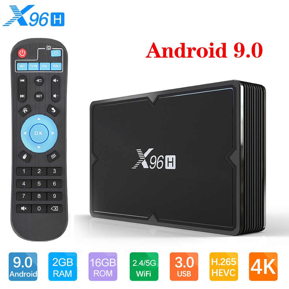 [Genuino] Nuevo X96H Android 9,0 Dispositivo de TV inteligente, 4GB de RAM, 64GB de ROM, con Wifi de doble banda, bluooth, reproductor multimedia, Allwinner H603, decodificador de señal