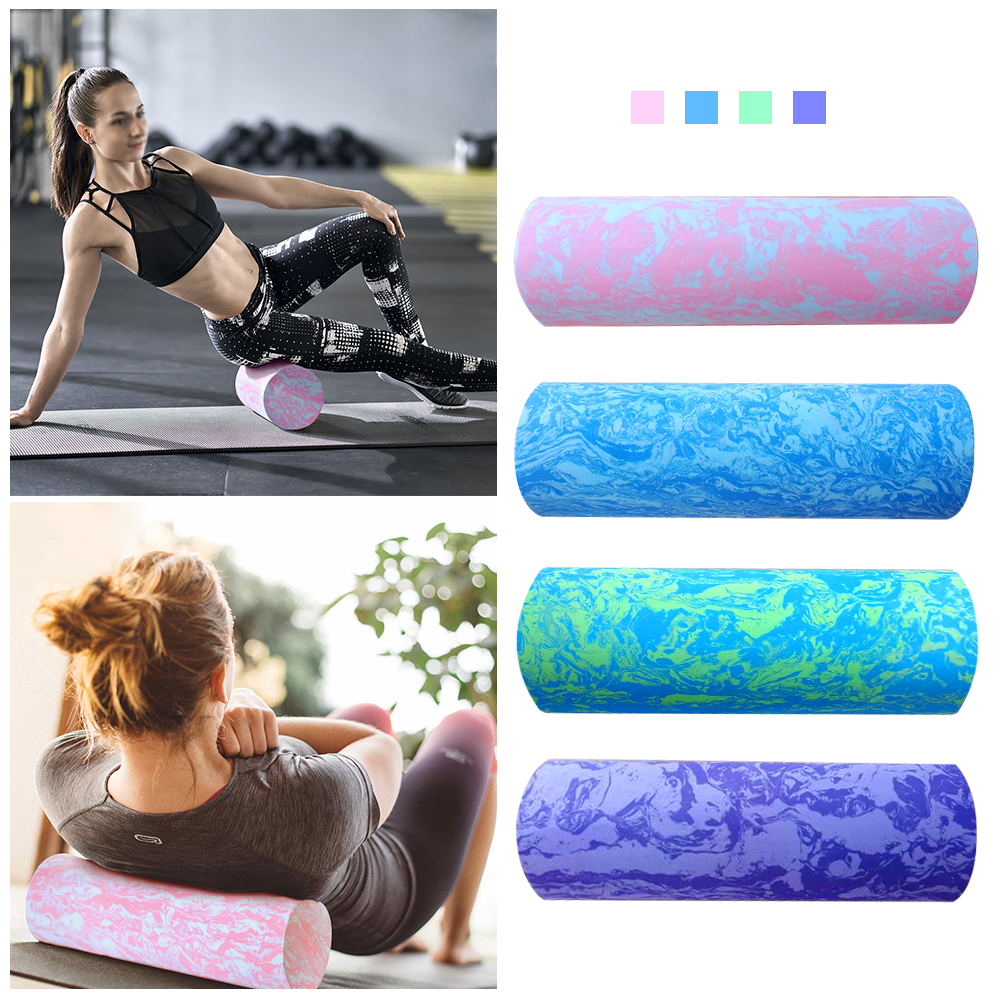 45/60CM Iridescent Cloud Yoga Foam Roller Pilates Block High-density Floating Roller GYM Fitness Body Massage Roller
