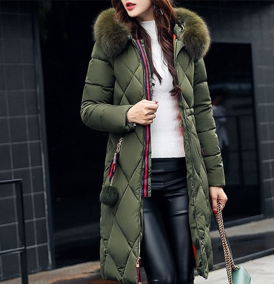 2018 Winter New Products Fashion Casual Mid-length Cotton-padded Clothes AliExpress