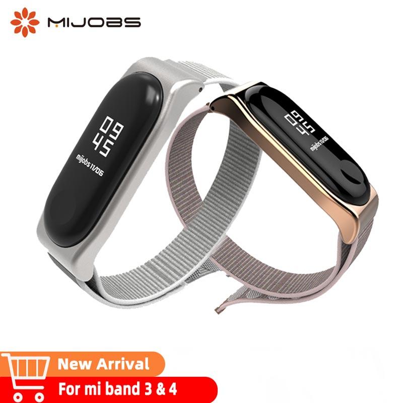 Mi Band 3 4 Nylon Watch Strap Miband 3 Bracelet Wristband Smart Band Accessories Mi4 Nfc  Pulseira  Sport Wrist Replace Strap