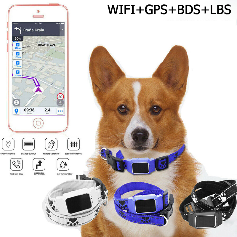 Waterproof Pet Smart Mini GPS Tracker Dog Collar For Pet Dogs Cats Tracing Locator GPS Tracking Device Original Anti-Lost Tracer