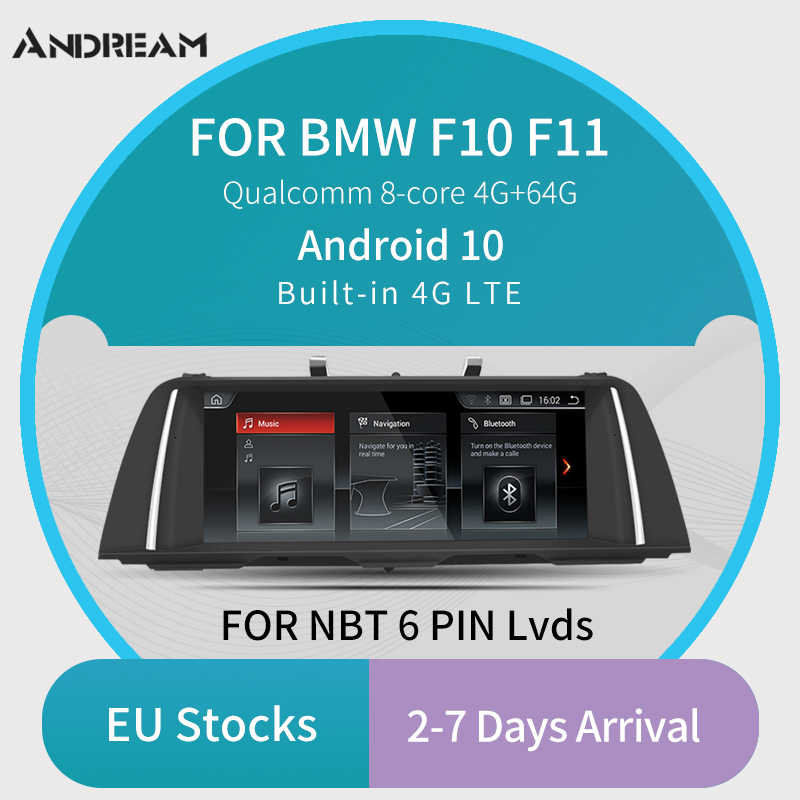"""Andream Android 10 Qualcomm 8 Core 10.25 """"nawigacja samochodowa GPS odtwarzacz multimedialny radioodtwarzacz do BMW serii 5 F10 F11 F18"""